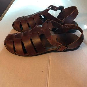 Rockport Women's  Brown Leather Sandals Size 9.5